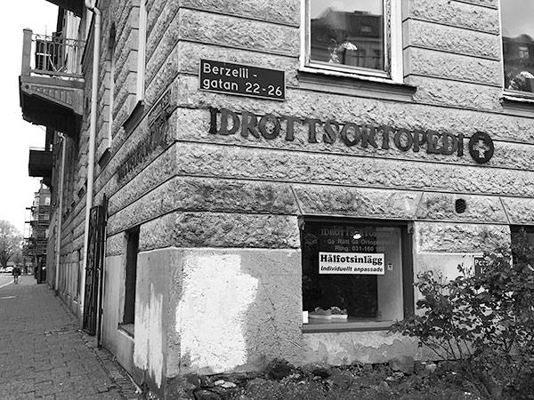 Idrottsortopedi på Berzeligatan, Göteborg